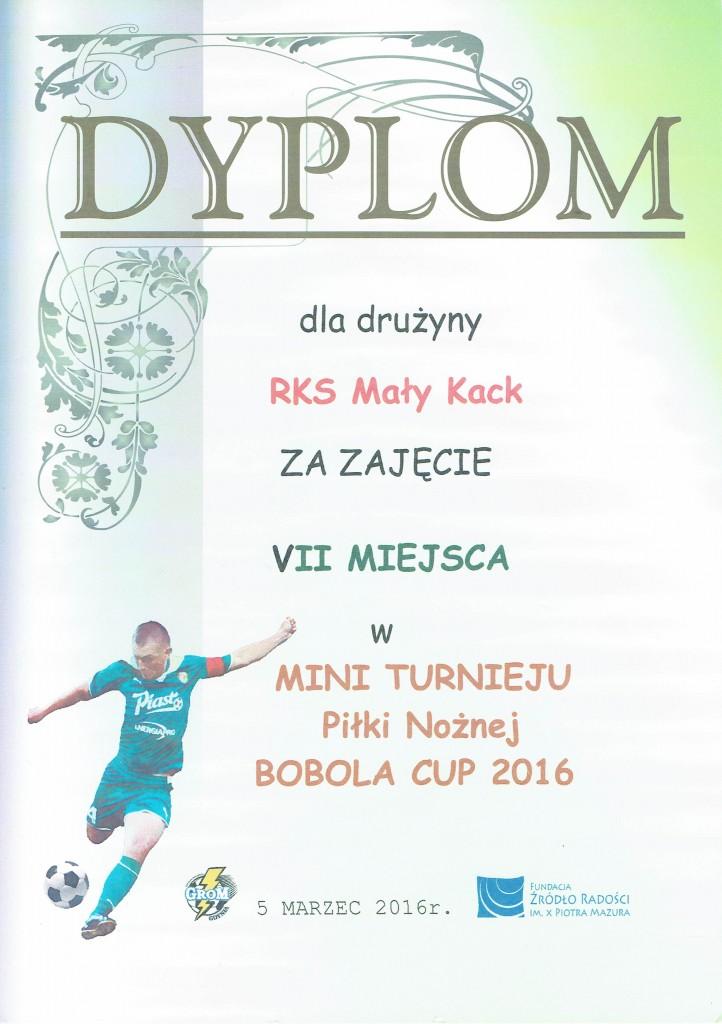 BOBOLA CUP 2016 – pierwszy turniej RKS Mały Kack
